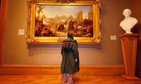 Children enjoying the art at the National Portrait Gallery