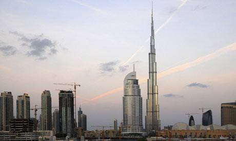 The Burj Dubai, the world's tallest skyscraper