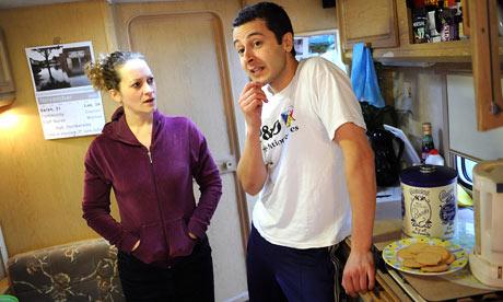 Rachel Dale and Brett Sadie in The Caravan