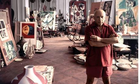 Picasso in studio