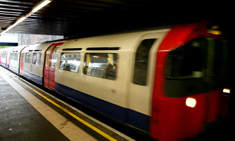 A Piccadilly line train at Arnos Grove