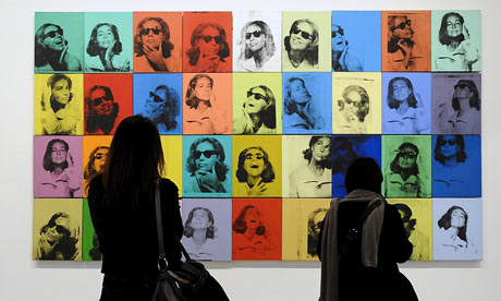 Ethel Scull 36 Times on display at the Andy Warhol exhibition, Grand Palais, Paris