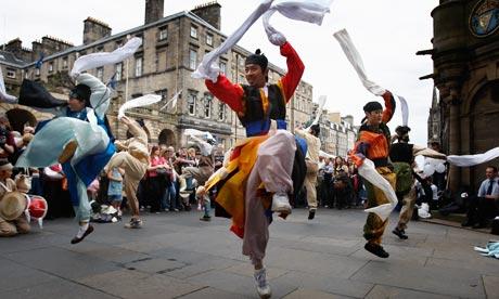 Street entertainers at last year's Edinburgh festival