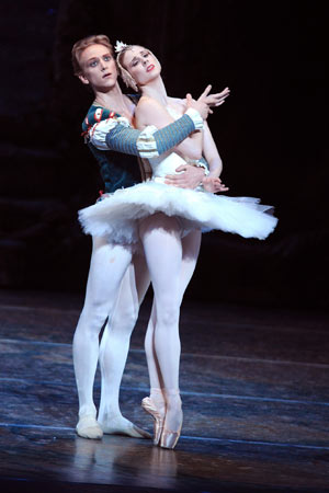 Siegfried and Odette from the ballet Swan Lake, here performed by David Hallberg and Michele Wiles