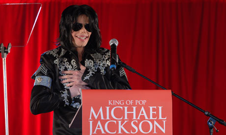 Michael Jackson announces his Summer 2009 residency at the O2 Arena