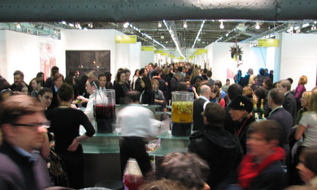 A crowd at the 2009 Armory Show art fair, New York
