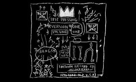 Jean-Michel Basquiat's cover art for Beat Bop by Rammelzee vs. K. Rob, 1983