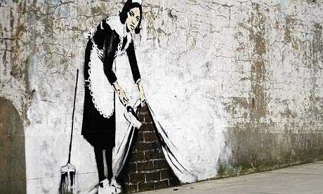 urban art stencil wall - photo #1