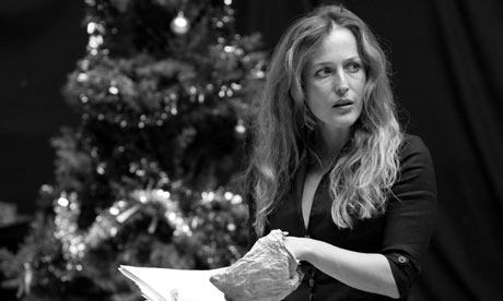 Gillian Anderson rehearsing A Doll's House at Donmar Warehouse