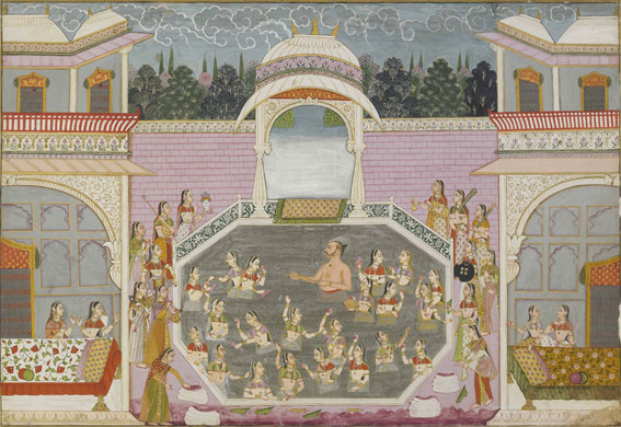 India at British Museum: Maharaja Bakhat Singh Rejoices during Holi. Nagaur, c. 1748-50