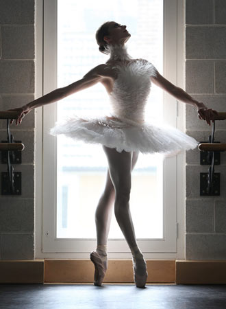 Karl Lagerfeld tutu design: the dying swan