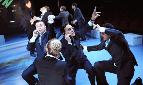 A scene from Enron at Minerva theatre, Chichester