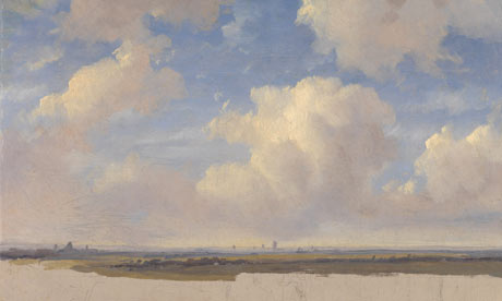Andreas Schelfhout, Landscape with Cumulus Clouds, Corot to Monet