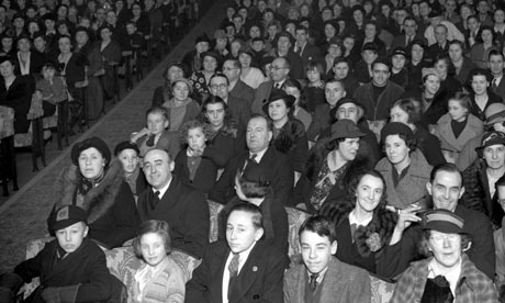 A 1940s cinema audience