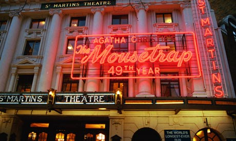 Agatha Christie's murder mystery The Mousetrap at St Martins Theatre in the West End, London