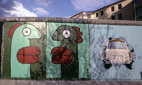 Top 10 books about the berlin wall books the guardian for Berlin wall mural