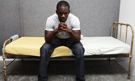 Jimmy Akingbola as a prisoner in Roy Williams's new play Category B