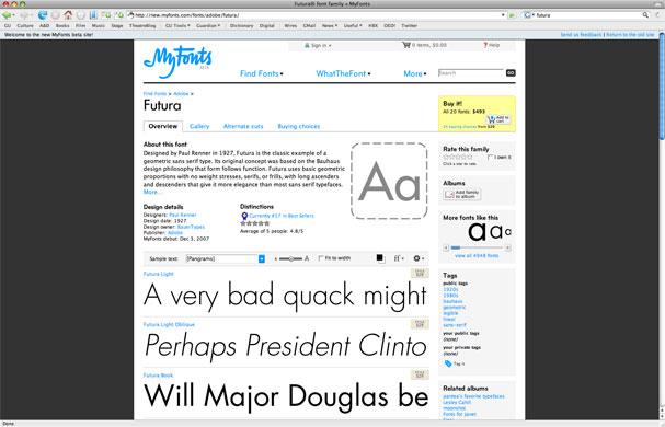 Futura gallery: Futura font