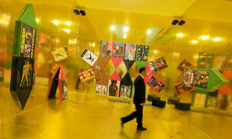 An installation view of art work in Pop Life at Tate Modern