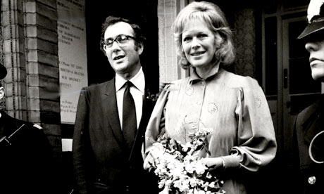 Harold Pinter and Lady Antonia Fraser at their wedding