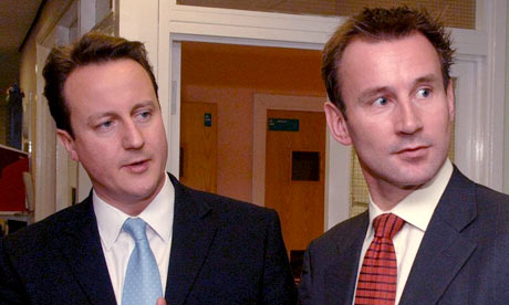 Conservative MP Jeremy Hunt with David Cameron