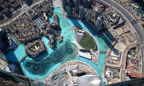 The landscape around the Burj Dubai