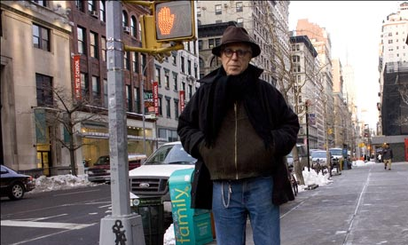 The American playwright John Guare in his New York Neighborhood.