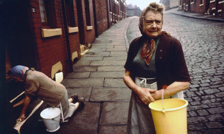 John Bulmer's photograph of women washing the street in northern England