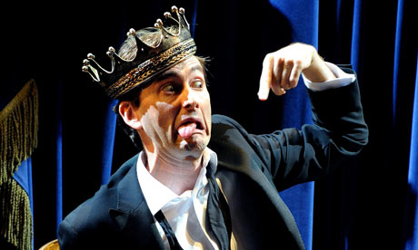 David Tennant plays Hamlet on stage at the Novello theatre