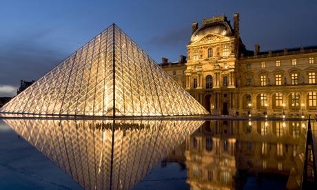Pyramid entrance to the Louvre, Paris