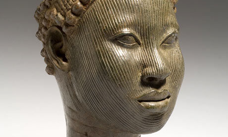 Brass head with crown, Wunmonije Compound in Ife
