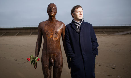 David Morrissey on Crosby beach
