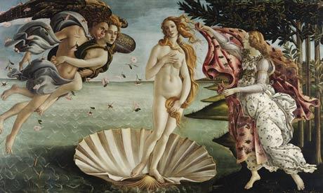 The Birth of Venus (1478-1487) by Sandro Botticelli