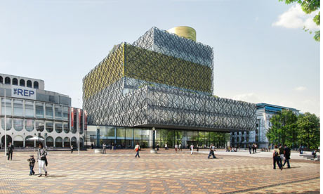 An artist's impression of the Library of Birmingham