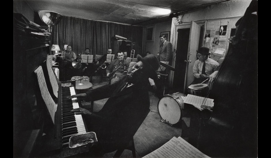 W Eugene Smith: Thelonious Monk and his Town Hall band in rehearsal, Feb 1959