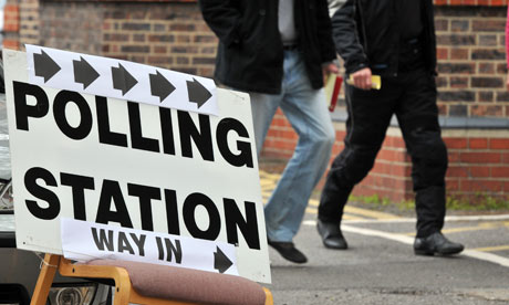 Polling stations in south west London 2010