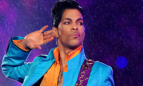 Prince performs at Super Bowl XLI in Miami