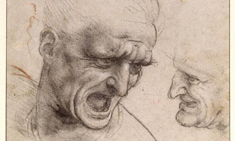 Estudios de cabeza. Leonardo da Vinci