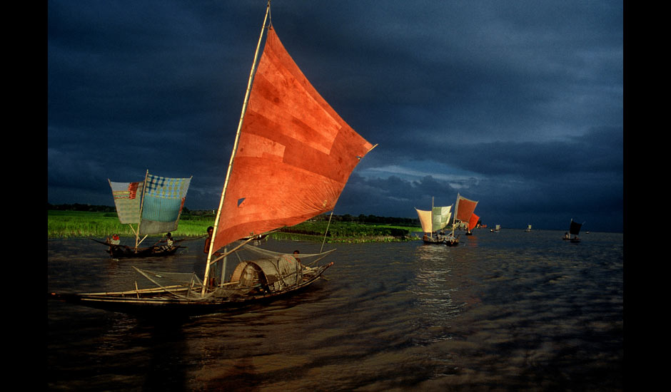Shahidul Alam's shot of ilish fishing on the river Brahmaputra, Bangladesh