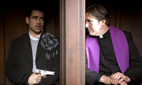 Colin Farrell and Ciarán Hinds in In Bruges (2008).
