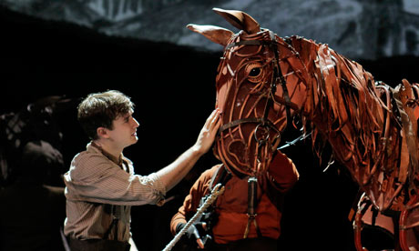 Seth Numrich in a performance of War Horse at the Lincoln Centre in New York.