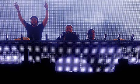 Swedish House Mafia perform at T in the Park in Scotland