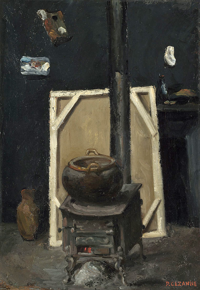 The Stove in the Studio (c1865) by Paul Cézanne