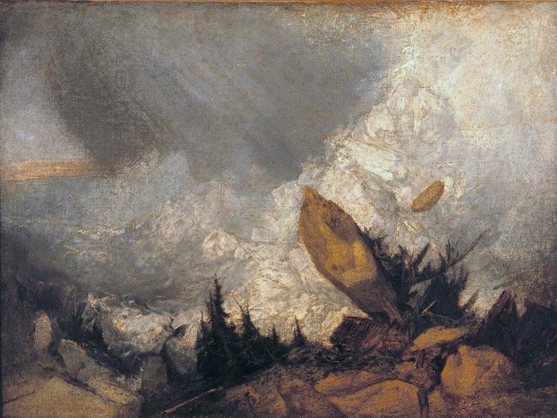 JMW Turner, The Fall of an Avalanche in the Grisons (1810)
