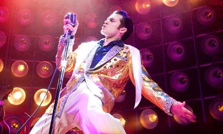 Michael Malarkey as Elvis Presley in Million Dollar Quartet