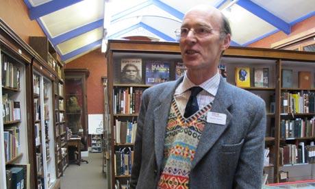 Yorkshire Museum staff member Martin Watts
