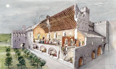 Terry Ball reconstruction of St Davids Bishop's Palace