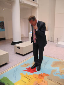 Chairman of the judges Michael Portillo at the Yorkshire Museum