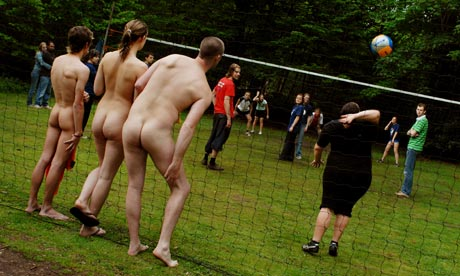 Naked delight ... After naturist camping and sports, will clothes-free ...