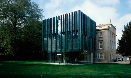 Part of glass ... the extension to Bath's Holburne Museum.